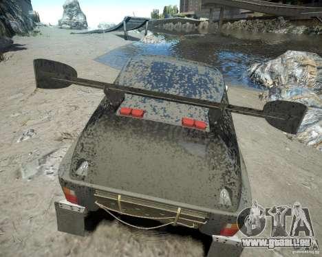 Mitsubishi Pajero Proto Dakar EK86 pour GTA 4 est une vue de dessous