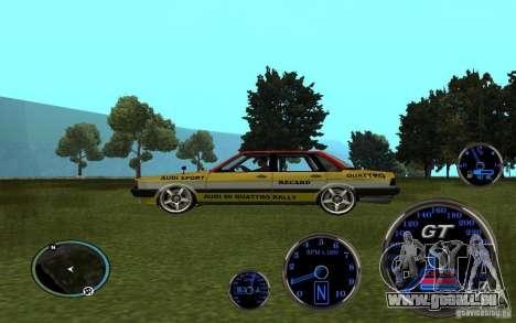 Audi 80 Quattro Rally für GTA San Andreas rechten Ansicht
