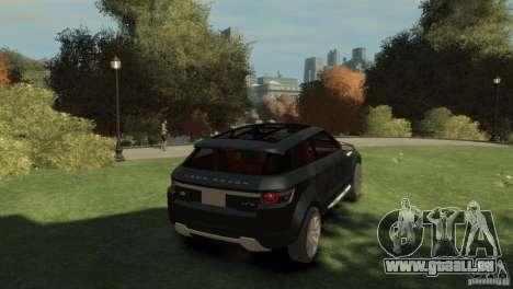 Land Rover Rang Rover LRX Concept pour GTA 4 Vue arrière de la gauche