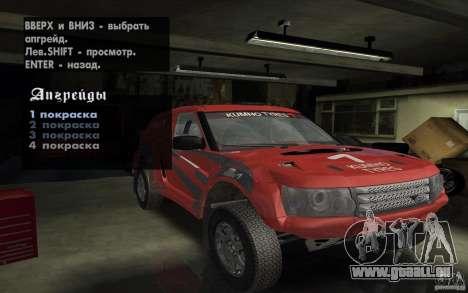 Bowler Nemesis pour GTA San Andreas vue de dessus
