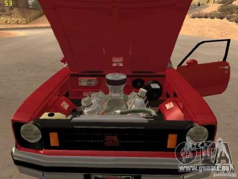 Chevrolet Nova Chucky pour GTA San Andreas vue arrière