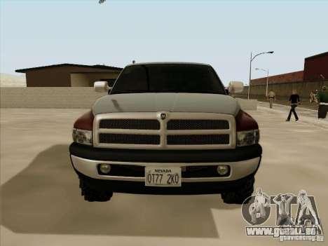 Dodge Ram 2500 1994 für GTA San Andreas zurück linke Ansicht
