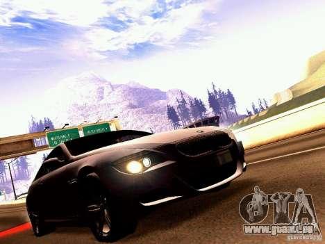BMW M6 MotoGP SafetyCar pour GTA San Andreas vue de côté