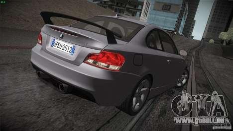BMW 135i Coupe Road Edition pour GTA San Andreas vue de dessus