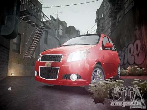 Chevrolet Aveo LT 2009 für GTA 4 Unteransicht