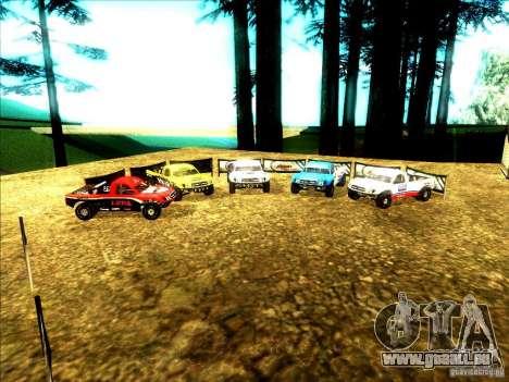 Toyota Tundra Rally pour GTA San Andreas vue de dessous