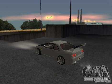 Nissan Skyline R33 SGM pour GTA San Andreas sur la vue arrière gauche
