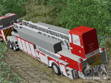 Pierce Arrow XT LAFD Tiller Ladder Trailer pour GTA San Andreas vue de côté