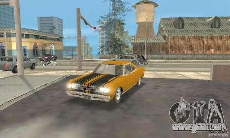 Plymouth Roadrunner 383 für GTA San Andreas zurück linke Ansicht