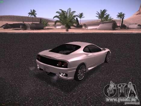 Ferrari 360 Modena pour GTA San Andreas vue de droite