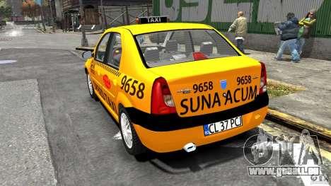 Dacia Logan Prestige Taxi pour GTA 4 Vue arrière de la gauche