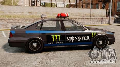 Polizei-Monster-Energie für GTA 4 hinten links Ansicht
