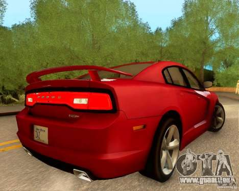 Dodge Charger SRT8 2012 pour GTA San Andreas salon