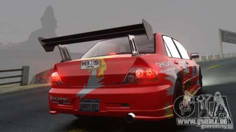 Mitsubishi Lancer Evolution VIII MR pour GTA 4 Vue arrière de la gauche