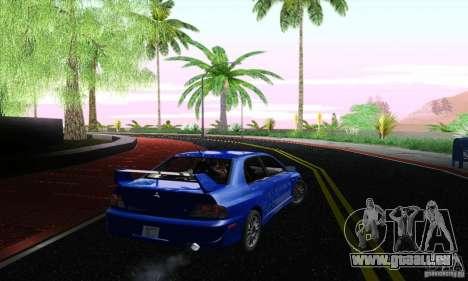 Mitsubishi Lancer Evolution 9 MR Edition pour GTA San Andreas laissé vue