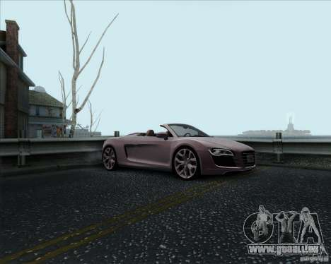 Audi R8 Spyder pour GTA San Andreas vue de côté