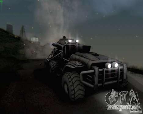 Cheta patte des Borderlands pour GTA San Andreas vue intérieure