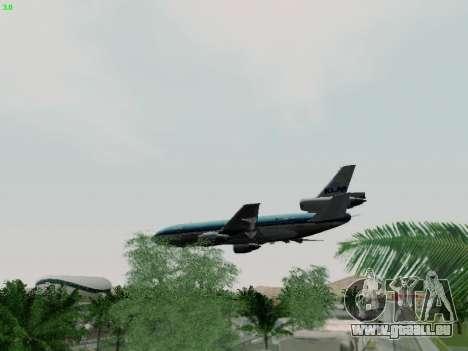 McDonell Douglas DC-10-30 KLM Royal Dutch pour GTA San Andreas vue de dessus