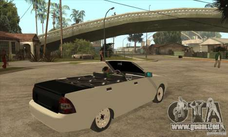 VAZ LADA Priora convertible pour GTA San Andreas vue de droite