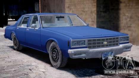 Chevrolet Impala 1983 [Final] pour GTA 4 est un côté