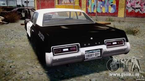 Dodge Monaco 1974 (bluesmobile) für GTA 4 hinten links Ansicht