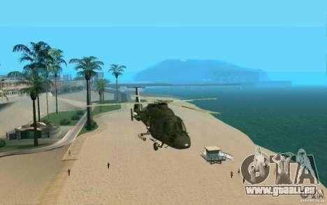 Ka-60 Kampfeinsatz für GTA San Andreas Rückansicht