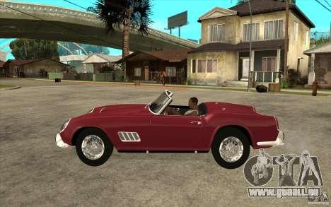 Ferrari 250 California 1957 für GTA San Andreas linke Ansicht