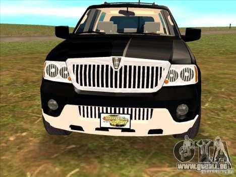 Lincoln Navigator pour GTA San Andreas vue de droite