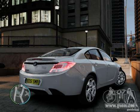 Vauxhall Insignia v1.0 pour GTA 4 Vue arrière