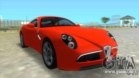Alfa Romeo 8C Competizione für GTA Vice City linke Ansicht