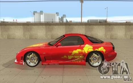 Mazda RX-7 - FnF2 pour GTA San Andreas laissé vue