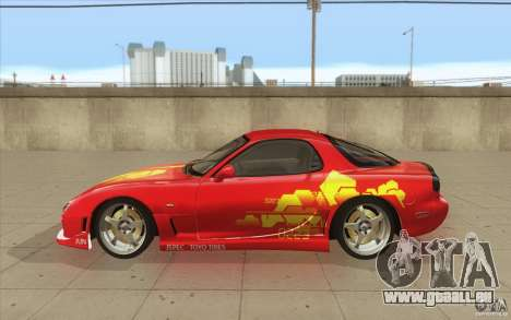 Mazda RX-7 - FnF2 für GTA San Andreas linke Ansicht