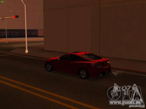 Hyundai Genesis Coupé 3.8 piste v1.0 pour GTA San Andreas vue de dessus
