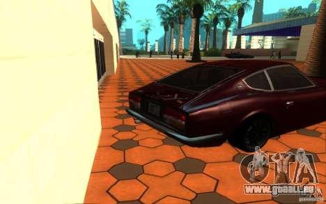 Nissan Fairlady Z 432 pour GTA San Andreas sur la vue arrière gauche