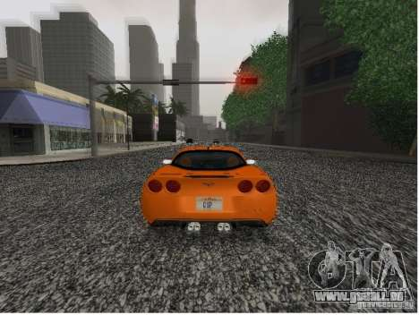 Chevrolet Corvette (C6) für GTA San Andreas zurück linke Ansicht