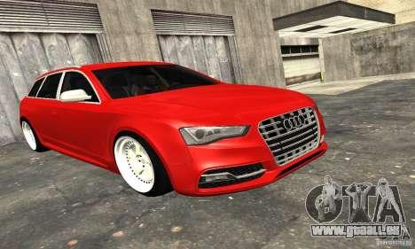 Audi A6 Avant Stanced für GTA San Andreas obere Ansicht