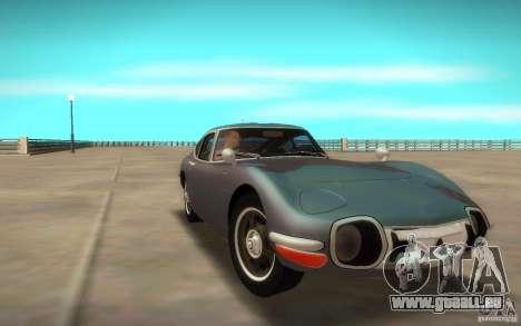 Toyota 2000GT 1969 pour GTA San Andreas sur la vue arrière gauche