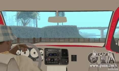 Chevrolet Tahoe 1992 pour GTA San Andreas vue intérieure