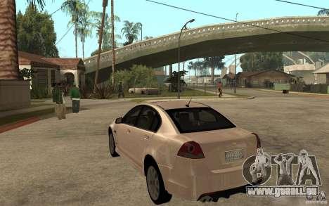Chevrolet Lumina 2010 pour GTA San Andreas sur la vue arrière gauche