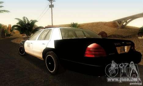 Ford Crown Victoria Oklahoma Police pour GTA San Andreas laissé vue