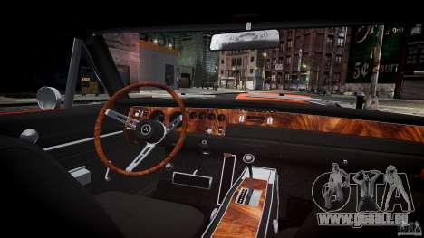 Dodge Charger RT 1969 sport de tun v1.1 pour GTA 4 vue de dessus