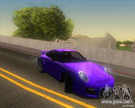 Porsche 911 GT2 (997) pour GTA San Andreas vue de dessus