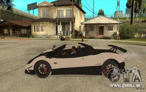 Pagani Zonda Cinque Roadster für GTA San Andreas linke Ansicht