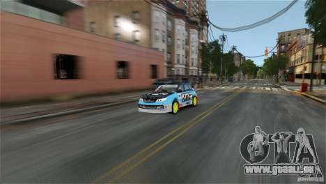 Subaru Impreza WRX STI Rallycross KMC Wheels pour GTA 4 est une gauche