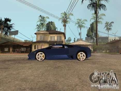 Lamborghini Murcielago LP640 pour GTA San Andreas laissé vue