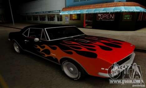 Chevrolet Camaro SS 1967 für GTA San Andreas Innenansicht