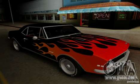 Chevrolet Camaro SS 1967 pour GTA San Andreas vue intérieure
