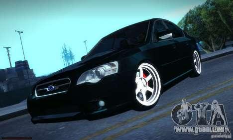 Subaru Legacy BIT edition 2004 pour GTA San Andreas vue arrière