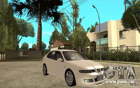 Seat Leon Cupra - Stock pour GTA San Andreas vue arrière