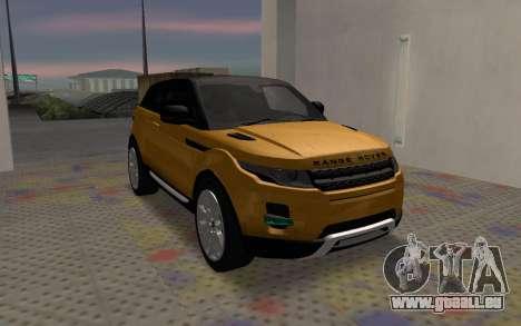 Land Rover Range Rover Evoque für GTA San Andreas rechten Ansicht